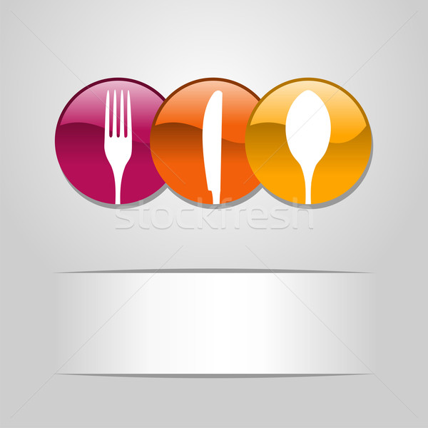 Food web button icons Stock photo © cienpies
