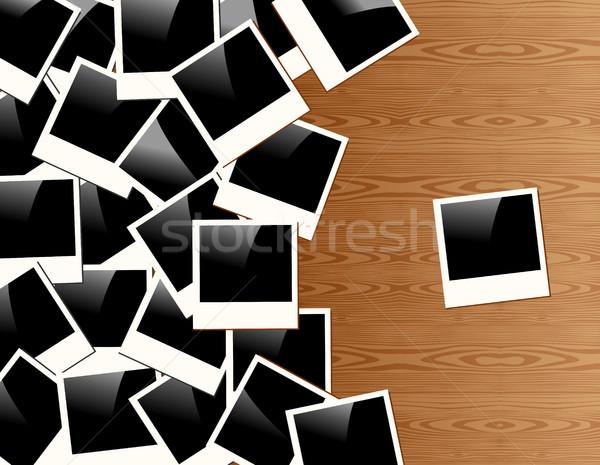 Vintage Polaroid photo frame background Stock photo © cienpies