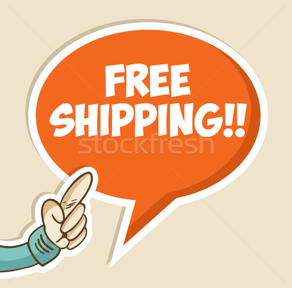 Free shipping bubble Stock photo © cienpies