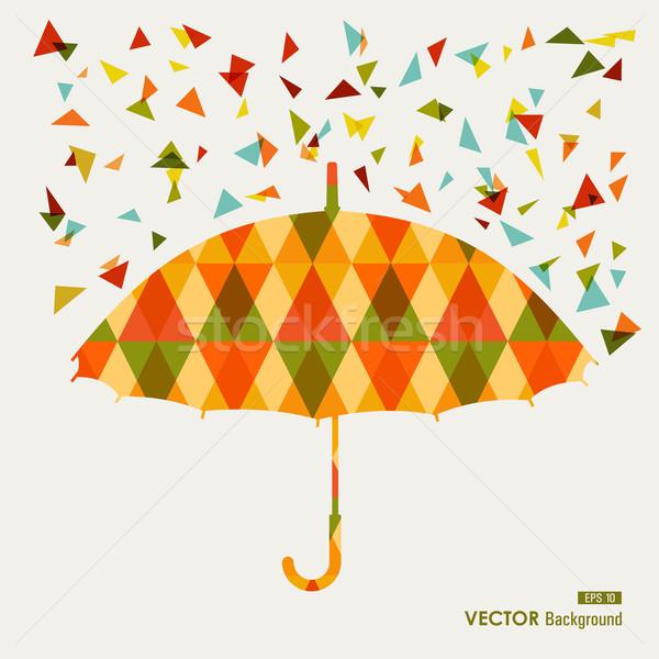 Sezon güz üçgen şemsiye eps10 dosya Stok fotoğraf © cienpies