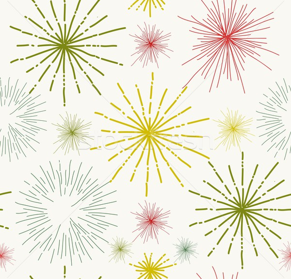 Abstract stars doodle seamless pattern Stock photo © cienpies