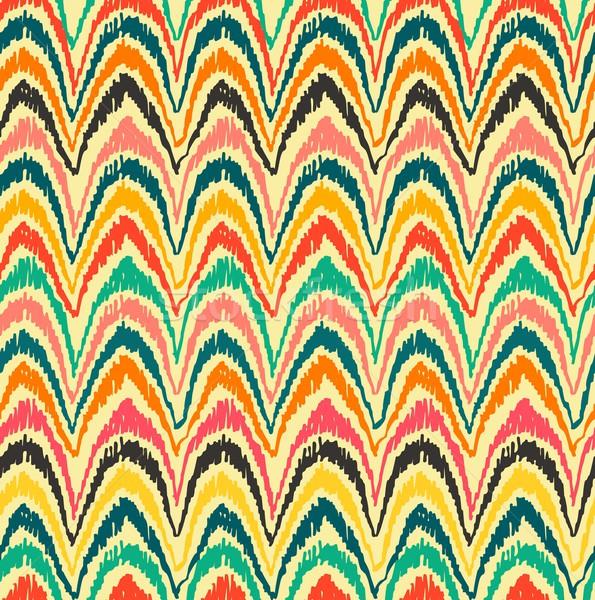 Boho seamless pattern vintage colorful background Stock photo © cienpies