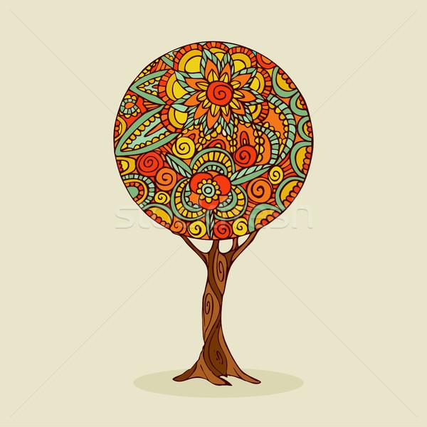 дерево мандала искусства традиционный этнических стиль Сток-фото © cienpies