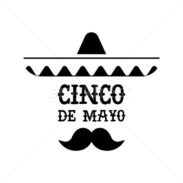 Cinco de mayo mexican mariachi isolated quote Stock photo © cienpies