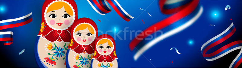 Russisch pop web banner Rusland sport Stockfoto © cienpies