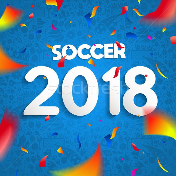Futebol campeonato jogo celebração cartaz colorido Foto stock © cienpies