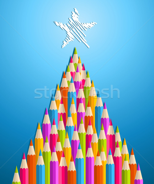 Art and design education Christmas tree Stock photo © cienpies