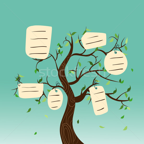 Hang tag family tree  Stock photo © cienpies