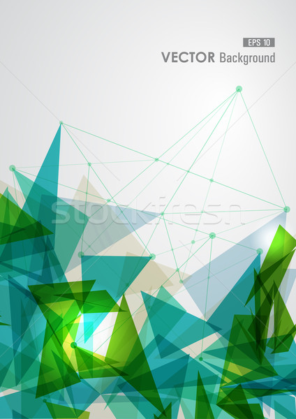 Green and blue network geometric transparency. Stock photo © cienpies