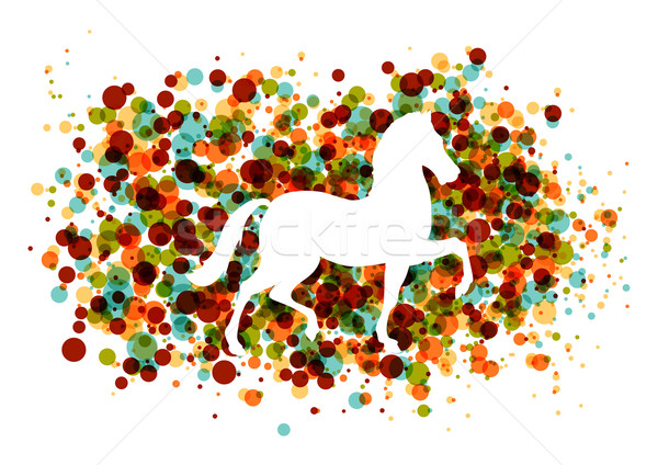 Chinese new year of the Horse bubbles EPS10 file. Stock photo © cienpies