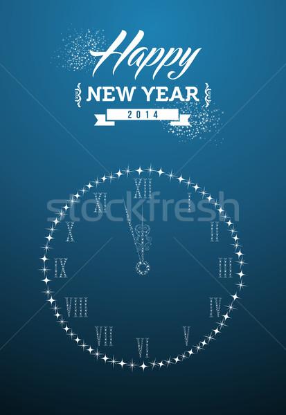 с Новым годом 2014 открытки праздников современный Сток-фото © cienpies