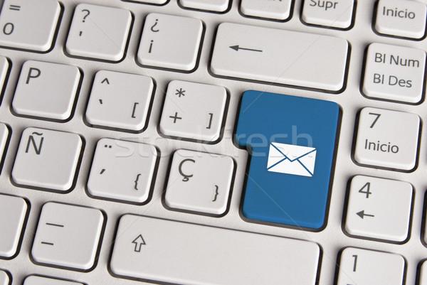 Stockfoto: E-mail · mail · envelop · toetsenbord · sleutel · spaans