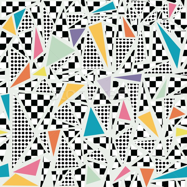 Retro 80s memphis pattern background Stock photo © cienpies