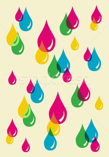Kleurrijk druppels doorzichtigheid patroon vector bestand Stockfoto © cienpies