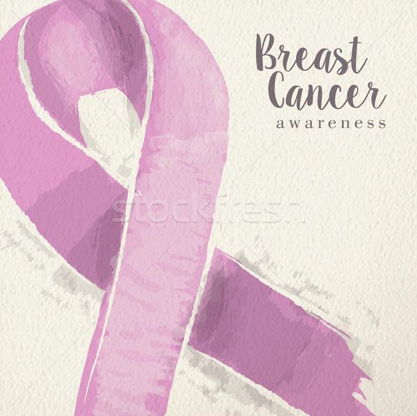 乳癌 認知度 ピンクリボン 実例 タイポグラフィ デザイン ストックフォト © cienpies
