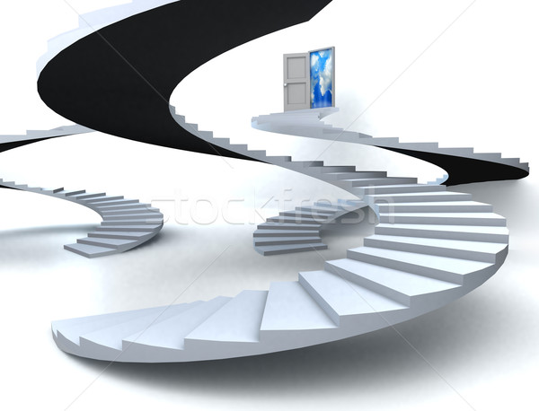 3D 成功 ビジネス 階段 シーン ストックフォト © cienpies