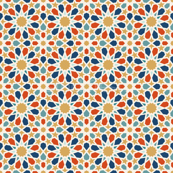 Arabic mosaic tile background decoration art Stock photo © cienpies
