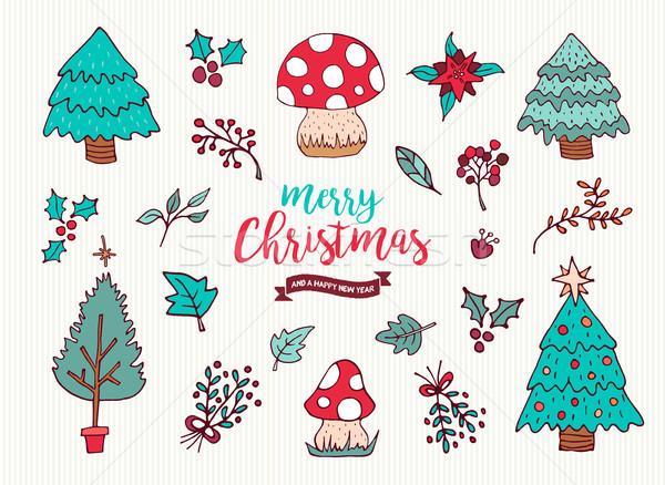 Foto d'archivio: Natale · capodanno · cute · vacanze · cartoon · raccolta