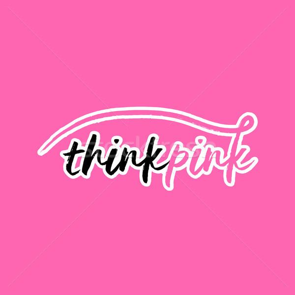 Consapevolezza tipografia rosa testo Foto d'archivio © cienpies