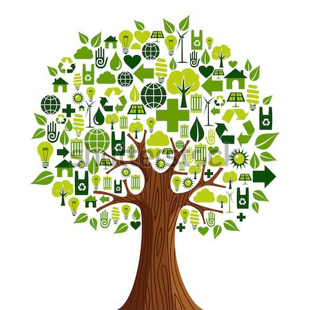 Green tree for environment help and eco concept Stock photo © cienpies