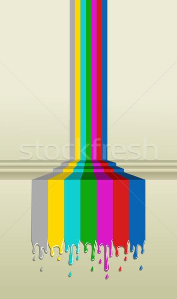 カラフル テレビ 画面 信号 塗料 実例 ストックフォト © cienpies