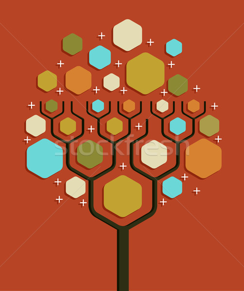 Social network business tree Stock photo © cienpies