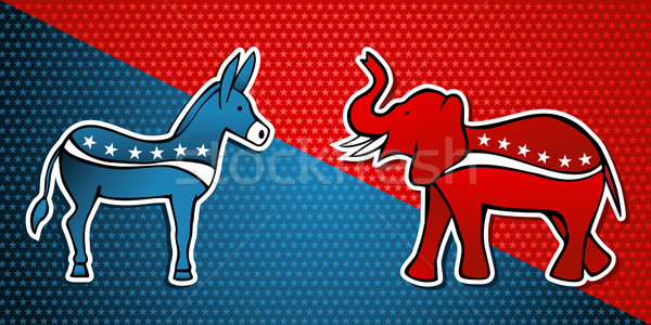 USA elections Democratic vs Republican party Stock photo © cienpies