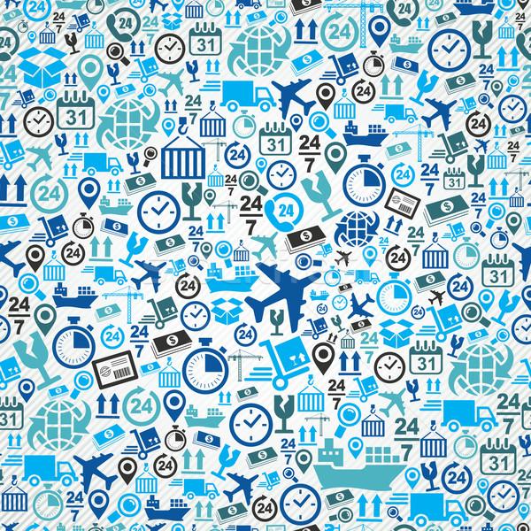Nakliye mavi lojistik simgeler Stok fotoğraf © cienpies