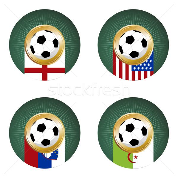 2010 voetbal wereld beker South Africa groep Stockfoto © cienpies