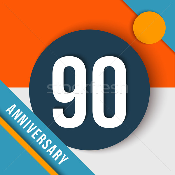 Stock photo: 90 year anniversary material design concept