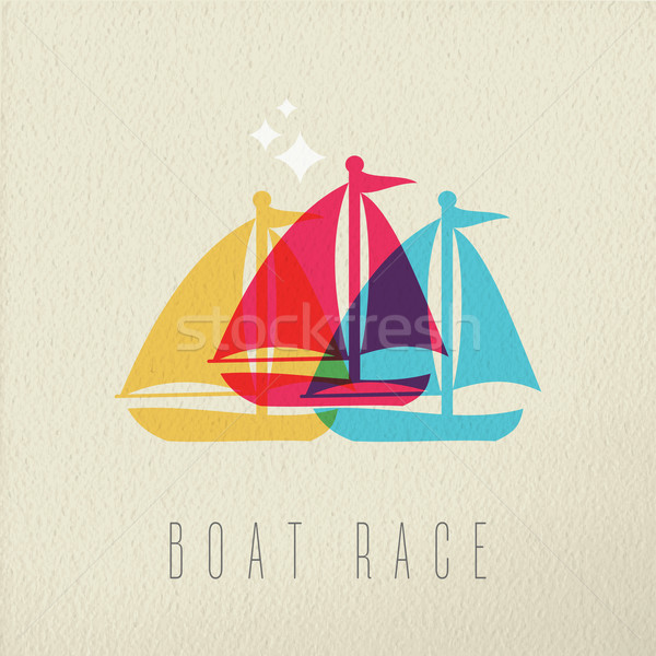 Boat race colorful summer concept background Stock photo © cienpies
