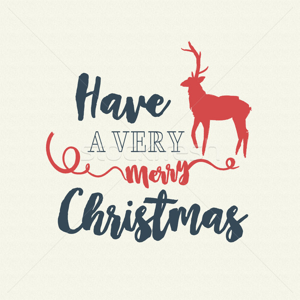 Christmas text quote typography deer illustration Stock photo © cienpies