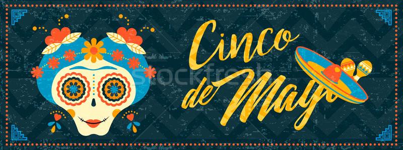 Stock fotó: Majonéz · mexikói · cukor · koponya · háló · szalag