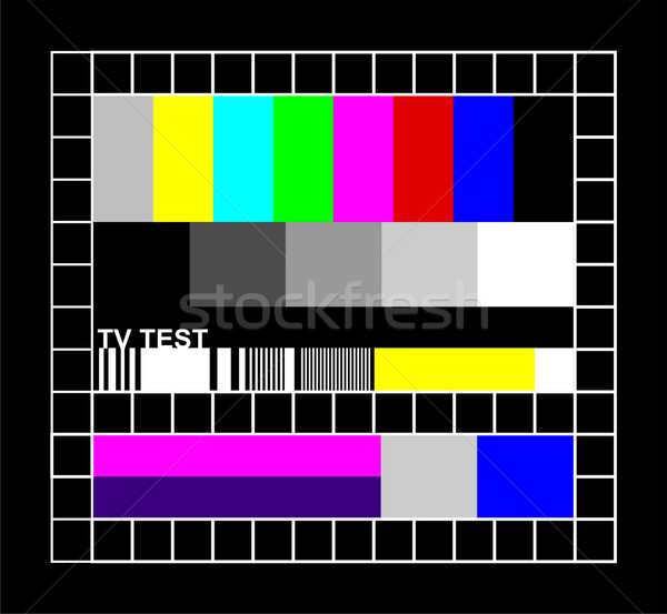 colored TV signal graphic Stock photo © cienpies