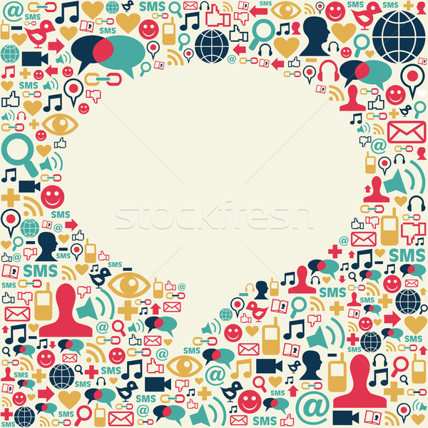 Social media talk bubble texture Stock photo © cienpies