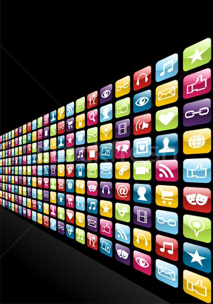 Iphone app icons set background Stock photo © cienpies