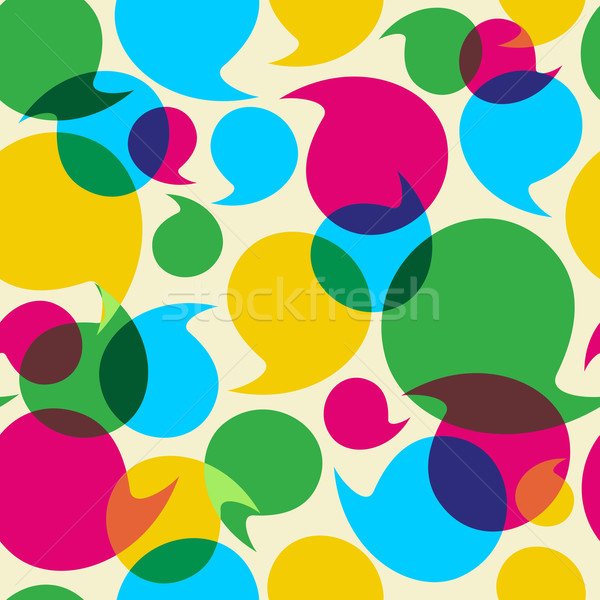 Social media bubbles pattern background Stock photo © cienpies