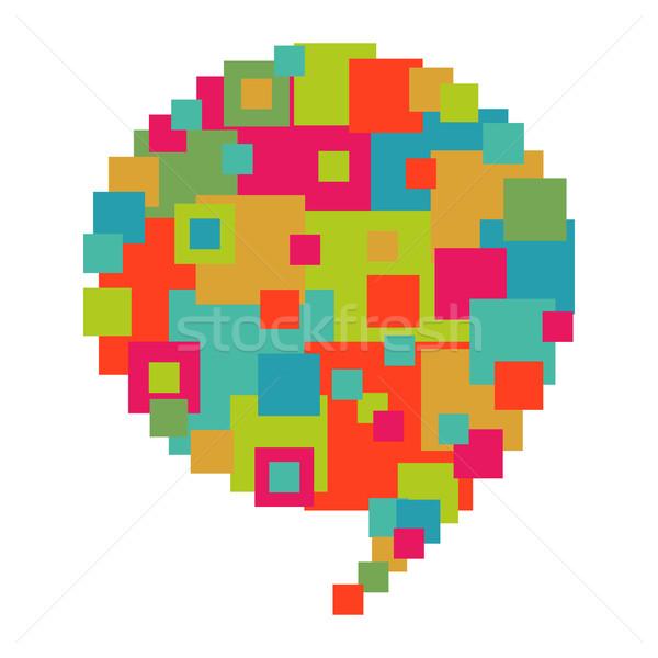 Pixelated diversity speech bubble Stock photo © cienpies
