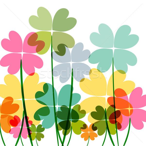 Tarka átláthatóság virágok tavasz idő kortárs Stock fotó © cienpies