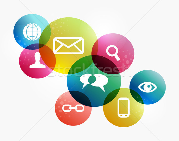 Stock photo: colorful social network concept
