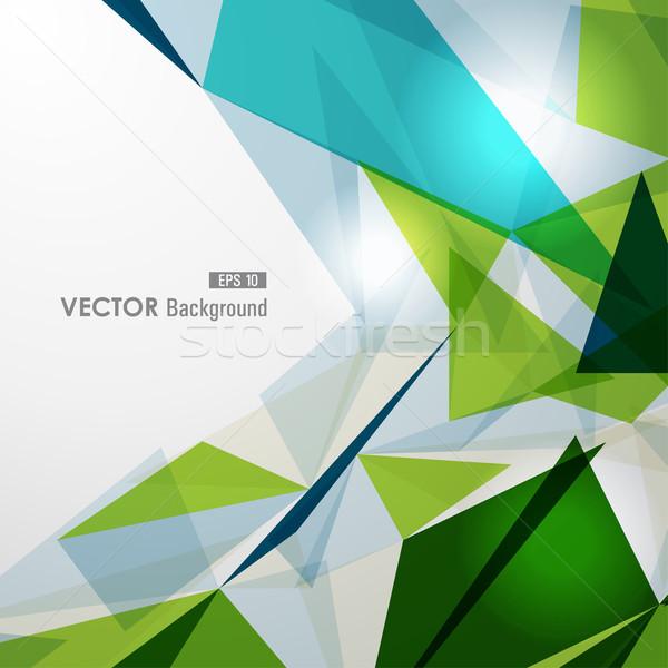 Ciepły geometryczny przezroczystość nowoczesne kolorowy przezroczysty Zdjęcia stock © cienpies