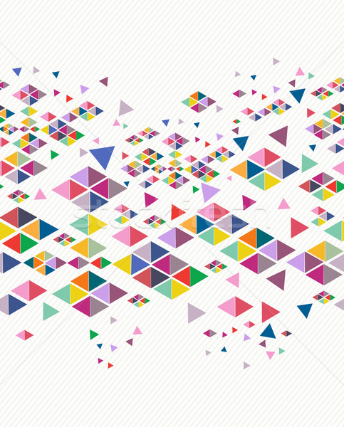 Trendy vintage hipster geometric seamless pattern. Stock photo © cienpies