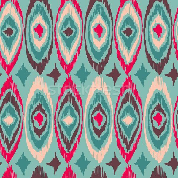 Boho vintage tribal shape pattern background Stock photo © cienpies