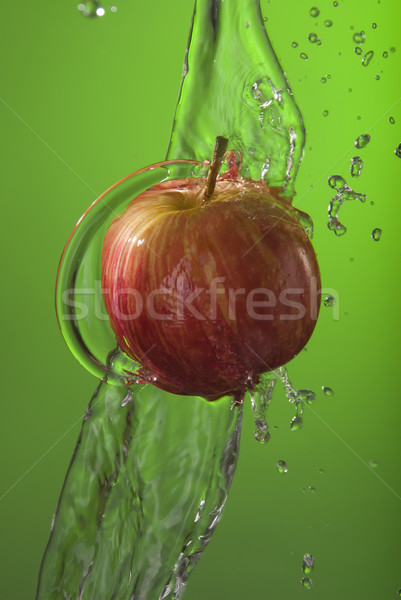 Manzana roja orgánico verde delicioso frutas Foto stock © cienpies