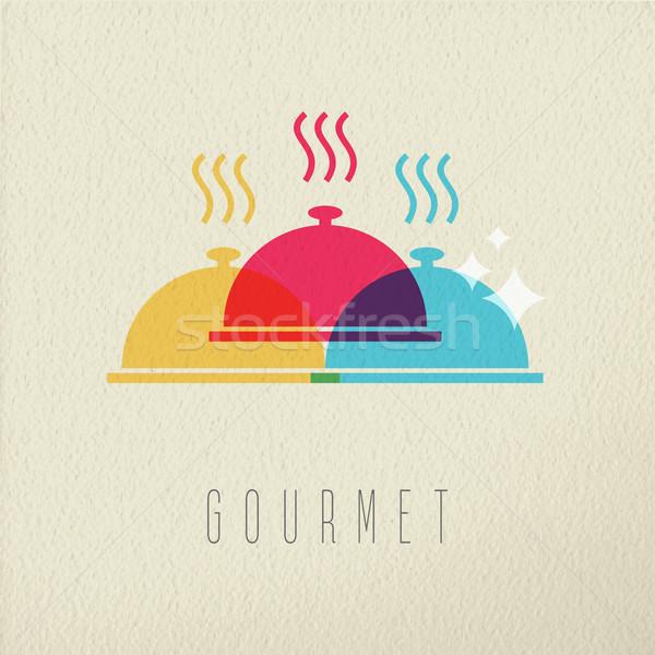 グルメ レストランの食べ物 皿 色 デザイン ストックフォト © cienpies