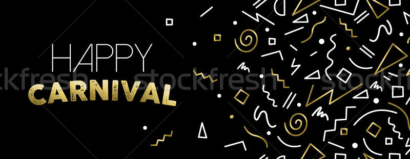 Welcome to Carnival gold party banner design Stock photo © cienpies
