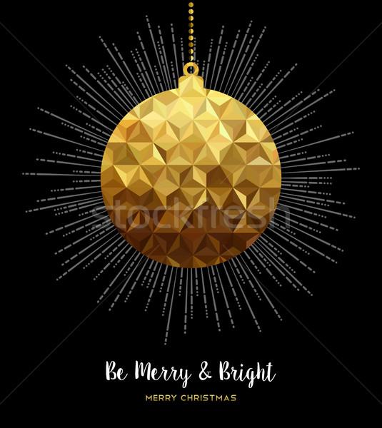 Złota christmas ozdoba cacko niski stylu Zdjęcia stock © cienpies
