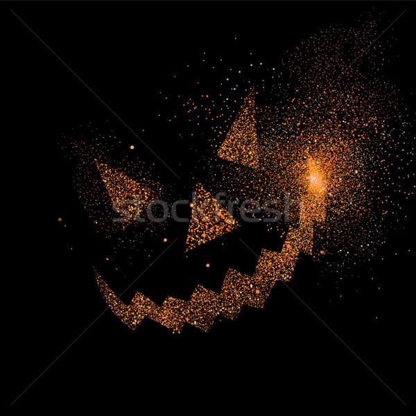 Halloween scary faccia glitter arte design Foto d'archivio © cienpies