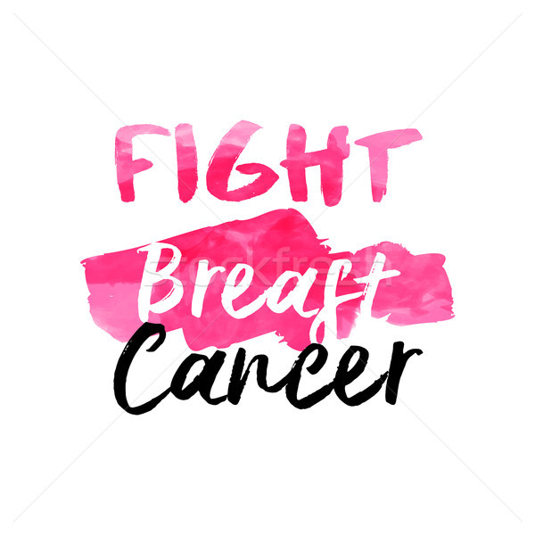 Stock photo: Breast cancer awareness pink watercolor typography