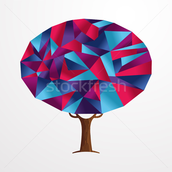 Abstract shape tree concept in vibrant colors Stock photo © cienpies